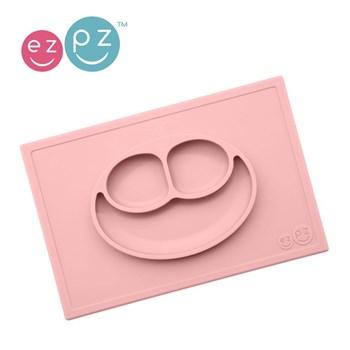 EZPZ - Silikonowy talerzyk z podkładką 2w1 różowy