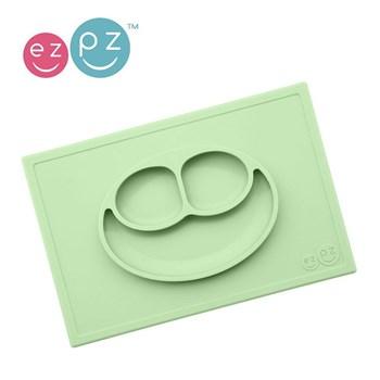 EZPZ- Silikonowy talerzyk z podkładką zielony