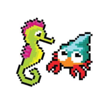 Fat Brain Toy: Puzzelki Pixelki Jixelz Morskie 700