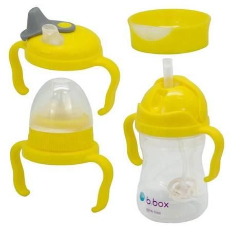 B.Box: Kubek 4w1 zestaw 240 ml, cytrynowy