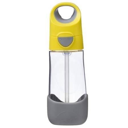 B.Box - Tritanowa butelka ze słomką 450 ml lemon