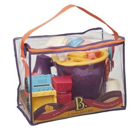 B.Toys: Torba z akcesoriami Do Piasku Pomarańczowa