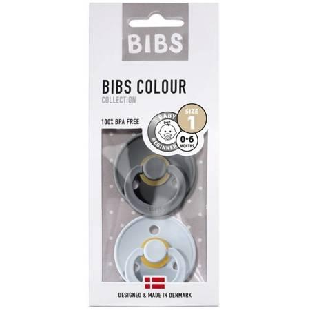 BIBS - Zestaw smoczków S Iron-Baby Blue
