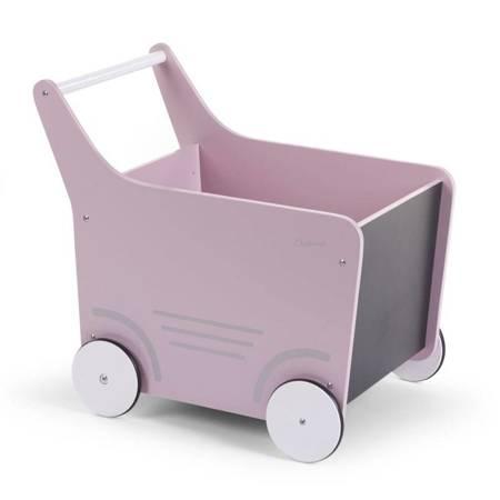 Childhome: Drewniany pchacz na zabawki Soft Pink