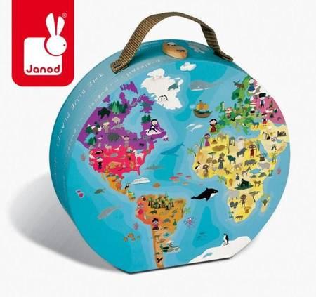 Janod - Puzzle w walizce dwustronne 208 el.