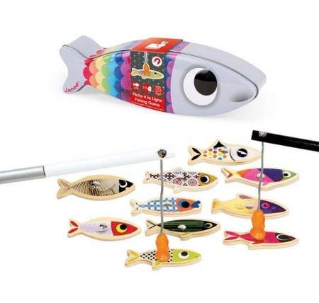 Janod - Zestaw do łowienia magnatyczny 10 rybek